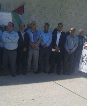 أقام المكتب الإداري لاتحاد نقابات عمال فلسطين منطقة صور اعتصاماً عمالياً.