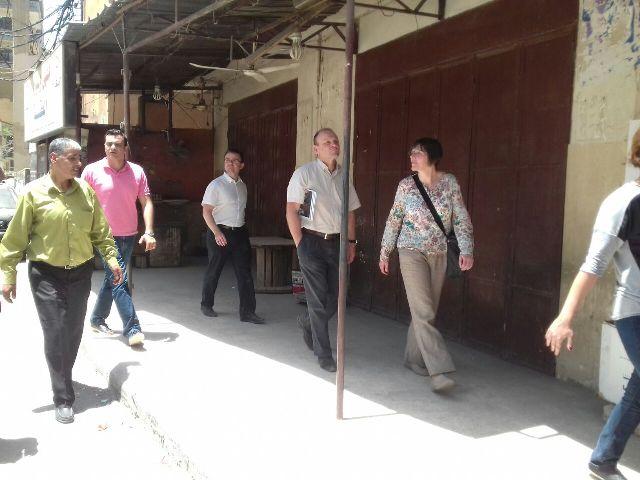 وفد من بنك التنمية الألماني ومنظمة UNDP برفقة اللجان الشعبية يجول متفقدا المشاريع المنفذة في محيط مخيم البداوي.