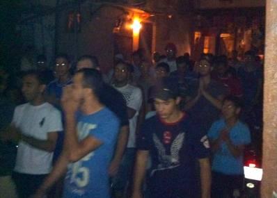 مسيرة حاشدة في مخيم شاتيلا بعد صلاة الفجر
