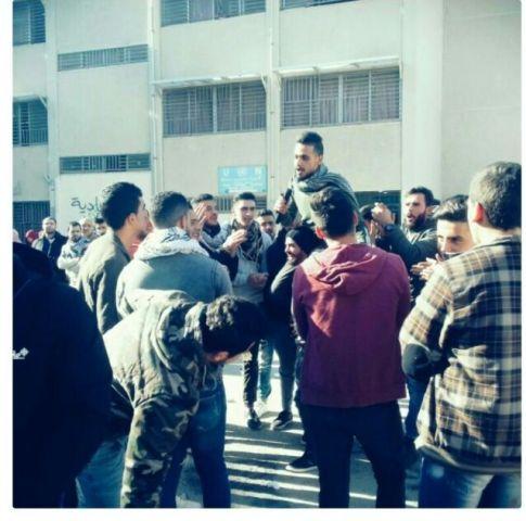 القوى الطالبية في مدارس الأنروا بمخيم نهر البارد تقيم وقفات تضامنية مع القدس