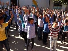 مدرسة للاطفال الفلسطينيين القادمين من سوريا في الرشيدية
