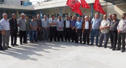 اعتصام للجبهة الديمقراطية في مخيم الرشيدية للمطالبة بتحسين خدمات الانروا الصحية