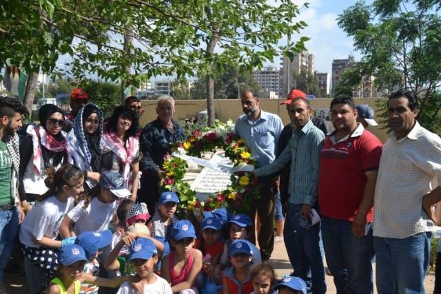 منظمة الشبيبة وأحلام لاجئ تشارك في تنظيف مقبرة الشهداء
