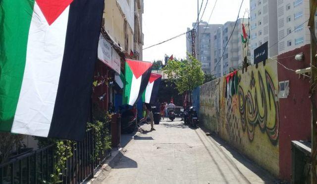 المخيمات الفلسطينية في لبنان تتضامن مع الداخل بالإضرابات والمسيرات
