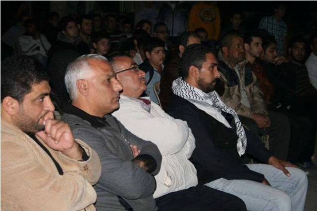 عرض فيلم الشهيدة دلال المغربي في مخيم البداوي