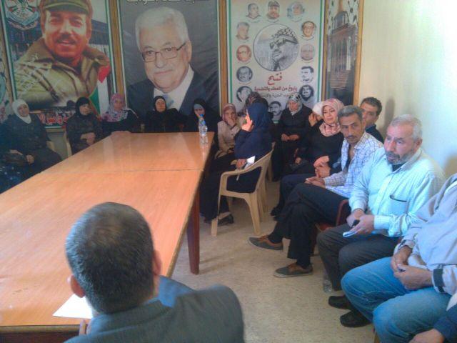 وفد من النازحين السوريين يزور مقر حركة فتح بالبداوي