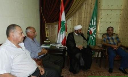 جبهة التحرير الفلسطينية تزور مفتي صور وجبل عامل القاضي الشيخ حسن عبد الله