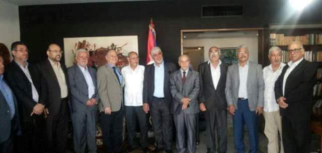 القيادة السياسية للفصائل الفلسطينية في زيارة وداعية للسفير الكوبي في لبنان