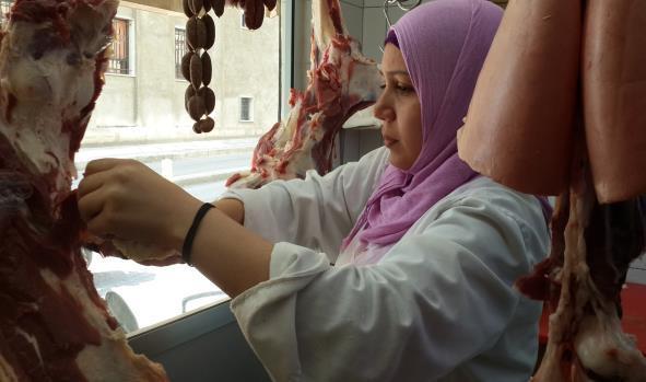 أماني جزّارة مصريّة في بيروت