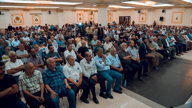 الشعبية تشارك في اللقاء الذي نظمته حركة حماس في قاعة الغولدن بلازا