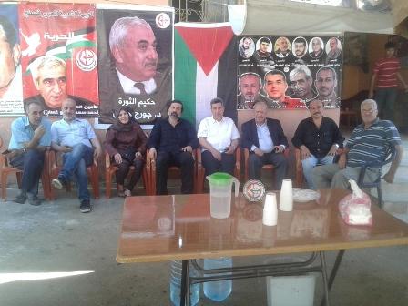 فاعليات اليوم الرابع في خيمة التضامن مع الأسرى المضربين عن الطعام في مخيم عين الحلوة