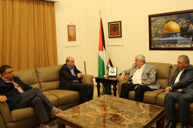 العالول يلتقي عضو المكتب السياسي للجبهة الشعبية ماهر الطاهر