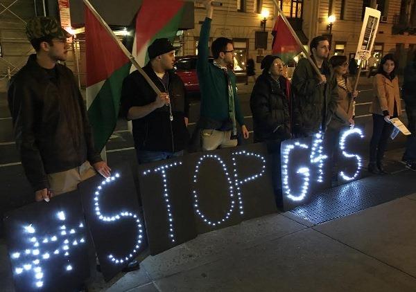 وقفة احتجاجية في نيويورك دعت لمقاطعة العدو وللتضامن مع المناضلة خالدة جرار