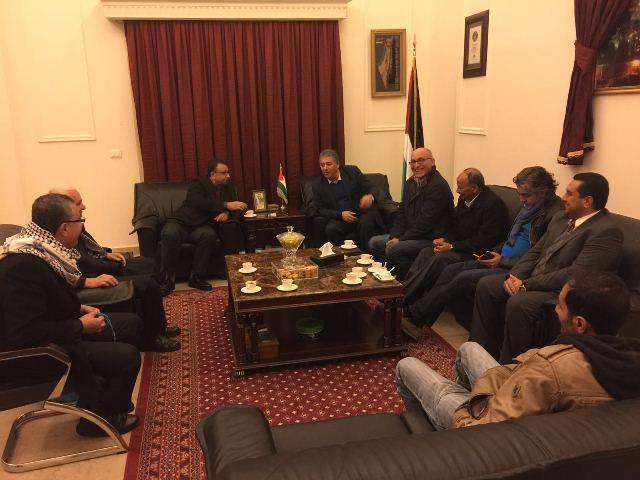 مسؤول ملف إعمار نهر البارد التقى لجنة المتابعة للمهندسين الفلسطينيين في الشمال
