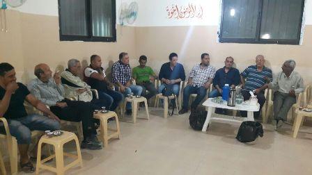 زار وفد من اللجنة الشعبية لمخيم عين الحلوة قاعة عرب زبيد.
