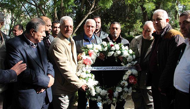 الشعبية في صيدا تشارك بزيارة ضريح الراحل مصطفى سعد في ذكرى محاولة اغتياله