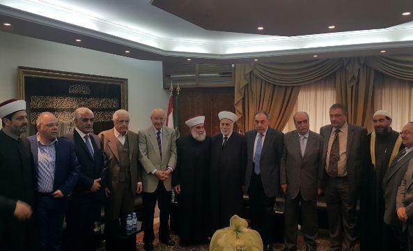 وفد من اللقاء الوطني برئاسة الوزر مراد زار دار الفتوى في الشمال