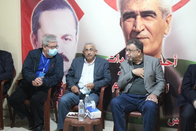 أسامة سعد يتقدم بالتعزية إلى الجبهة الشعبية لتحرير فلسطين لرحيل القائد الوطني والقومي عبد الرحيم ملوح
