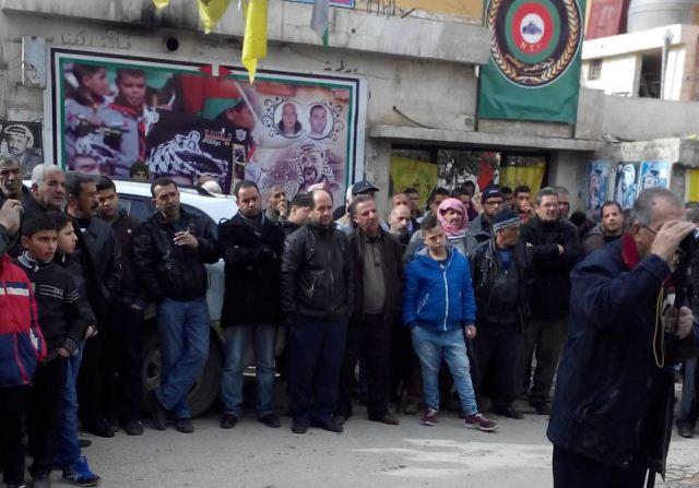 اعتصام جماهيري في مخيم الجليل احتجاجاً على سياسة الأنروا
