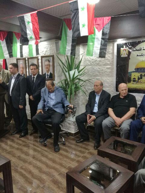 افتتاح سفارة فلسطين في دمشق بمبناها الجديد.
