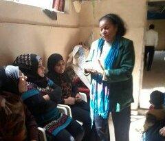 لجان المرأة الفلسطينية في منطقة صيدا اقامت ندوة جماهيرية