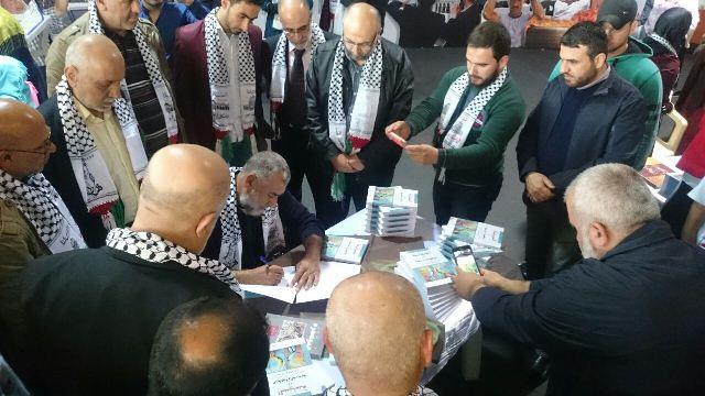 هيئة نصرة الأقصى ومكتب الإعلام والأسرى يقيمان لقاء مع اﻷسير المحرر طلال الباز
