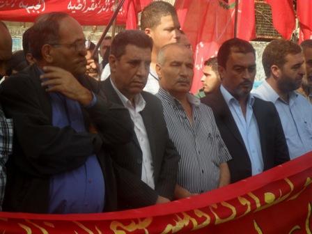 الجبهة الديمقراطية في صيدا نظّمت اعتصاماً تضامنياً مع أهالي البارد