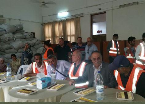 زيارة نائب الأمين العام أبو أحمد فؤاد لطلاب مخيم اليرموك في مركز سعيد العاص بدمشق