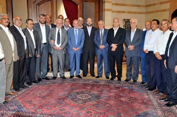 وفد مركزي من الفصائل الفلسطينية زار الرئيس بري
