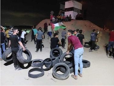 إصابات بين الفلسطينيين خلال فعاليات الإرباك الليلي شمالي غزة