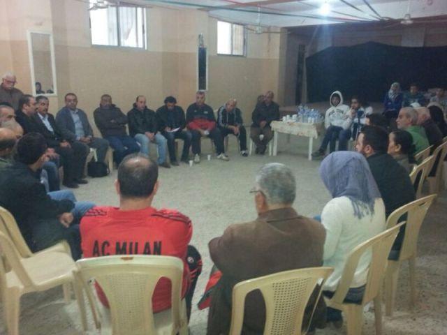 لقاء تشاوري لمواجهة دعوات التهجير في مخيم البداوي