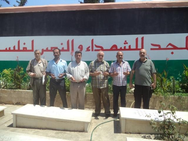 وفد من منظمة التحرير في منطقة صيدا زار أضرحة الشهداء