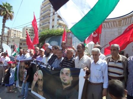 الشعبية في صيدا تقيم اعتصامًا تضامنيًا مع الأسير بلال كايد وكافة الأسرى