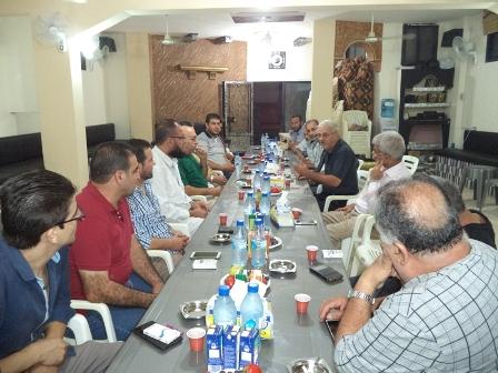 وفد من الجبهة في صيدا يزور لجان القاطع الأول في مخيم عين الحلوة