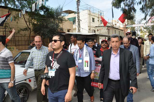 اتحاد الشباب الديمقراطي العالمي تضامن مع الشعب الفلسطيني في مخيم عين الحلوة