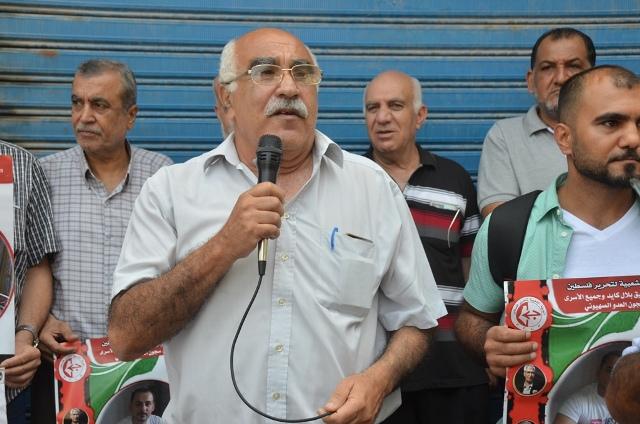 بالفيديو ... وقفة تضامنية في مخيم عين الحلوة مع الأسير بلال كايد