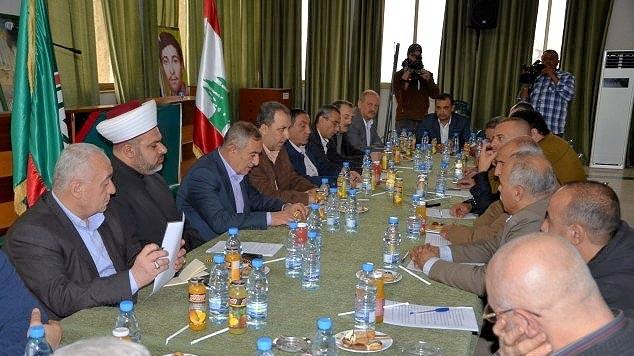 اجتماع الأحزاب والقوى الوطنية اللبنانية والفصائل الفلسطينية في مقر قيادة جبل عامل لحركة أمل – صور.