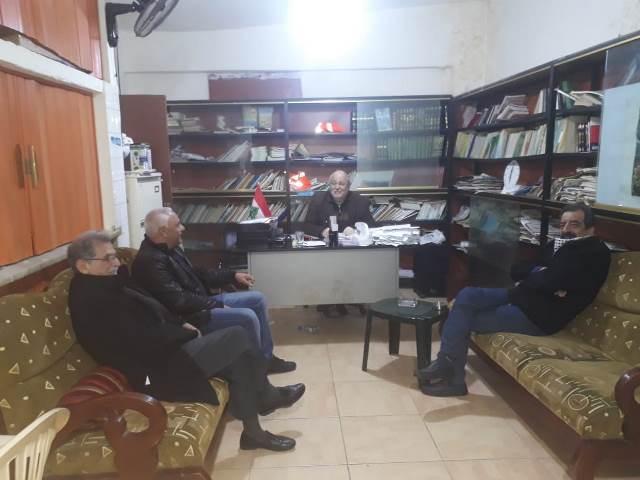 الجبهة الشعبية لتحرير فلسطين تلتقي اللجنة الشعبية الفلسطينية في مخيم مار الياس في بيروت