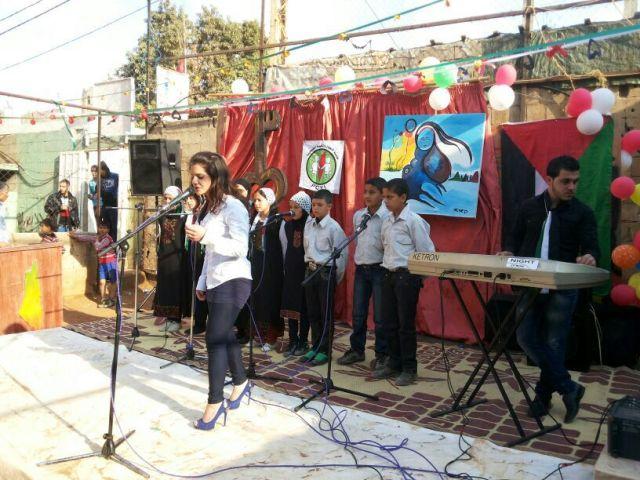 احتفال تكريمي في مخيم نهر البارد