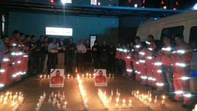 وقفة تضامنية وإضاءة شموع في مستشفى النداء الإنساني