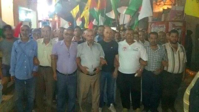 مسيرة تضامنية لحركة فتح في البداوي