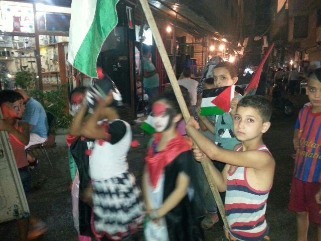 مسيرة لأطفال مخيم البداوي