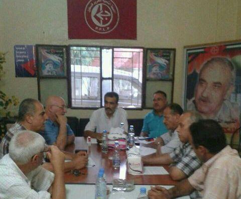 اجتماع فصائل منظمة التحرير الفلسطينية – منطقة صور