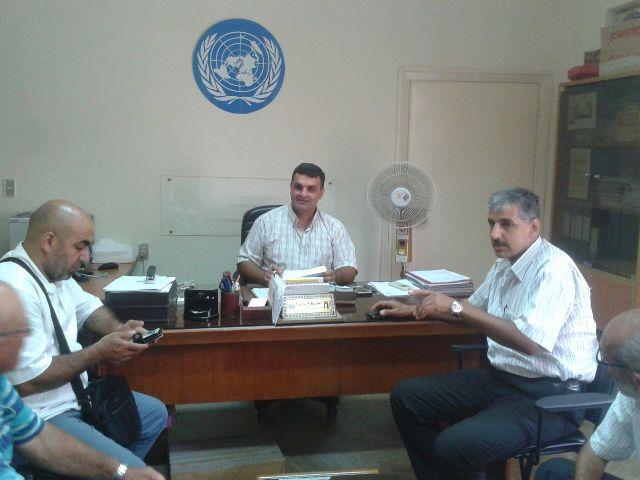 وفد من اللجان الشعبية يزور مكتب الأنروا في طرابلس