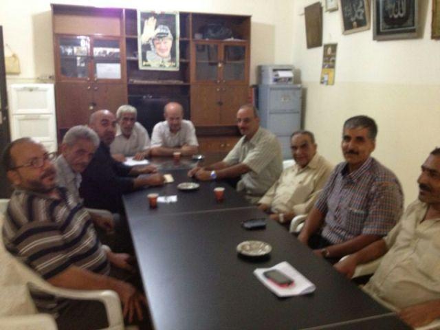الرفيق أحمد غنومي يلتقي اللجنة الشعبية لمخيم البداوي