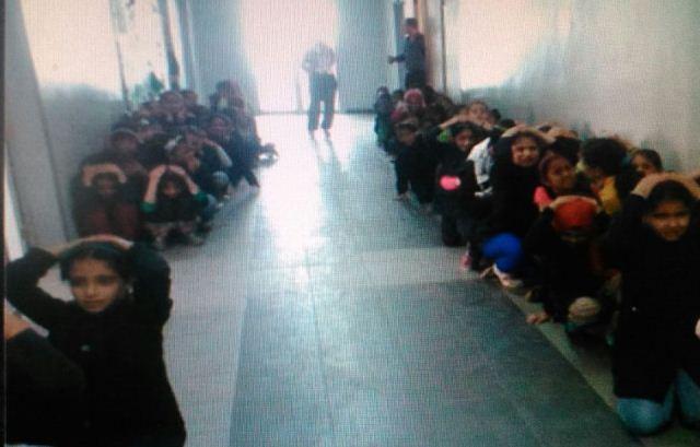 مدرسة غزة في نهر البارد تدرب الطلاب على اخلاء الصفوف في حال حدوث اي طارئ