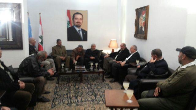 اللجان الشعبية الفلسطينية في الشمال زارت مستشار الرئيس الحريري