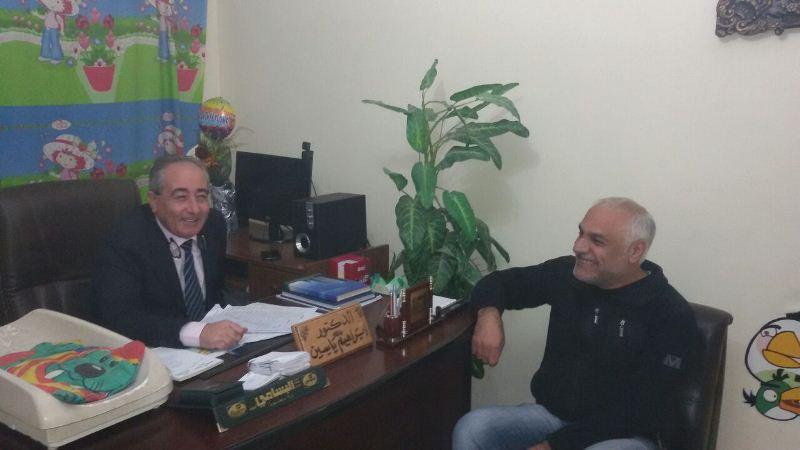 الجبهة الشعبية زارت مدير مستشفى صفد في البداوي