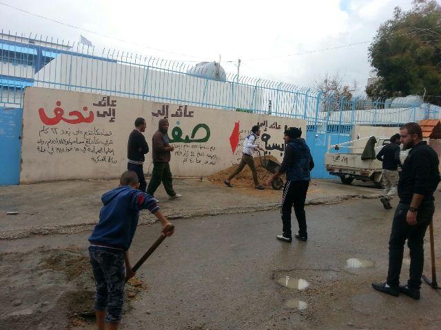 مبادرة تطوعية شبابية مشتركة بين منظمة الشبيبة الفلسطينية وتجمع ولاد المخيم في مخيم الرشيدية