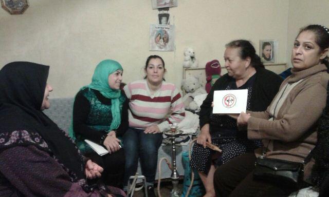 لجان المرأة الشعبية الفلسطينية في البص تهنئ العائلات المسيحية بالاعياد